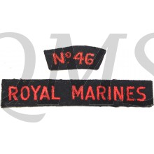 Shoulder flas no 46 Royal Marines