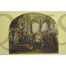 Postkarte 1914 Kaiser Proklamation ze Versailles 1871
