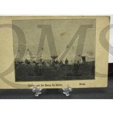 Prent briefkaart 1905 Groeten uit het Kamp bij Diever