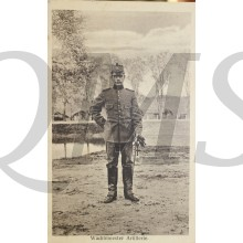 Prent briefkaart 1914 mobilisatie Wachtmeester Artillerie