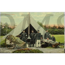 Prent briefkaart  mobilisatie 1914 Veld ambulance 1914