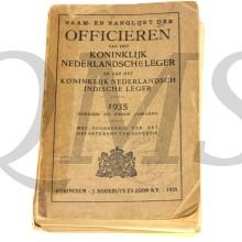Naam en rangenlijst der Officieren KL en KNIL 1935