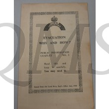 Evacuation Why and How? 1939  Public information leaflet No 3