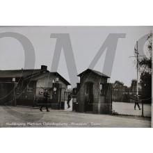 """Prent briefkaart Hoofdingang Mariniers Opleidingskamp """"Westduin"""" Doorn"""