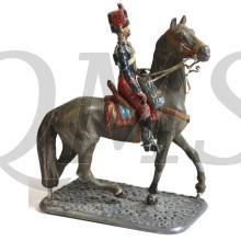 Huzaar te paard rond 1930