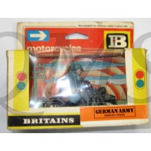 Britains Military Toys 9679 German Army Motorcycle Despatch Rider 1/32 scale MIB