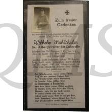 In Memoriam Karte/Death notice Wilhelm Muhlthaler