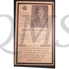 In Memoriam Karte/Death notice Josef Schraml