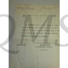 Document Haarlem 1907 Nat Militie vervallen oproep