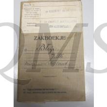 Oorlogszakboekje 4e reg Inf 4e Depot Bliji Jacobus Theodorus