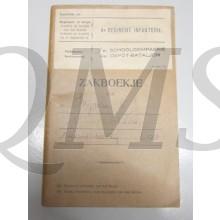 Oorlogszakboekje 4e Reg Inf 3 School Comp 4e Depot batt