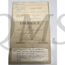 Oorlogszakboekje &e Reg Inf 7e Depot Batt Slingerlandt van  Dienstplichtig soldaat lichting 1922
