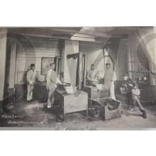 Prent briefkaart mobilisatie 1914 Harskamp Onderofficiers keuken