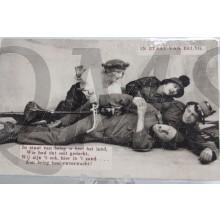 Prent briefkaart 1914 mobilisatie In staat van Beleg