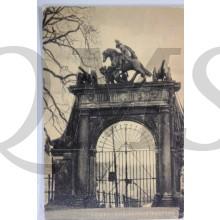 Prent briefkaart mobilisatie 1914 Leiden Doelenpoort Kazerne