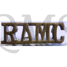 Shoulder title brass Royal Army Medical Corps (R.A.M.C.)