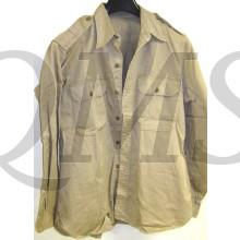 WW2 Us Army Cotton Khaki Summer Chino Shirt 1942