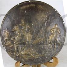 Gipsen herinnerings-bord gevechten bij KERMPT 7 aug 1831