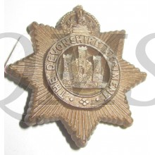 Devonshire Regiment WW2 Plastic Economy Cap Badge
