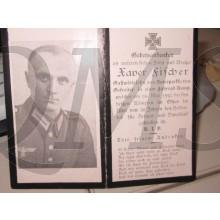 In Memoriam Karte/Death notice Gefr Fahrrad Komp
