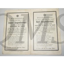 In Memoriam Karte/Death notice obergefreiter Inf Regt