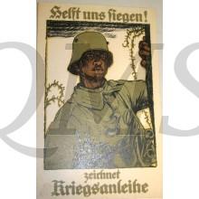 Propagande postcard helft uns Siegen ! Zeichnet Kriegsanleihe