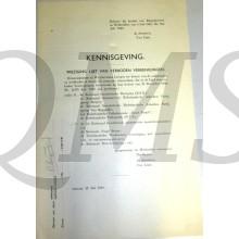 Kennisgeving Lijst van verboden verenigingen (1938) geschrapt juli 1940