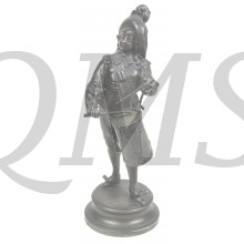Brass statue of military band player 1750
