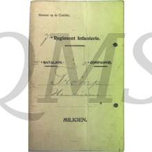 Oorlogszakboekje 7e Regiment Infanterie III bat 3e Comp