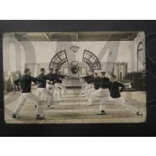 Prent briefkaart 1905 de Schermzaal