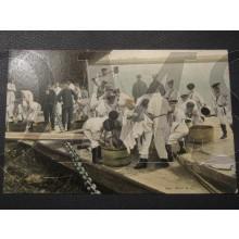 Prent briefkaart 1905 Waschdag