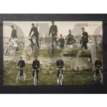 Prent briefkaart 1905 Oefening op ongelijk terrein