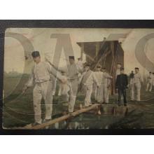 Prent briefkaart 1905 Hindernisbaan