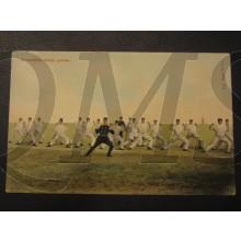 Prent briefkaart 1905 Gymnastiek zonder geweer