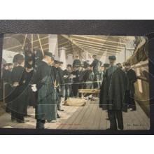 Prent briefkaart Vendeur aan boord