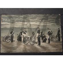 Prent briefkaart 1905 Matrozen Landings Divisie