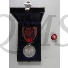 Red Cross merit medal silver with rosette