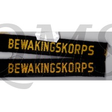 Bewakingskorps K.L. set  straatnamen