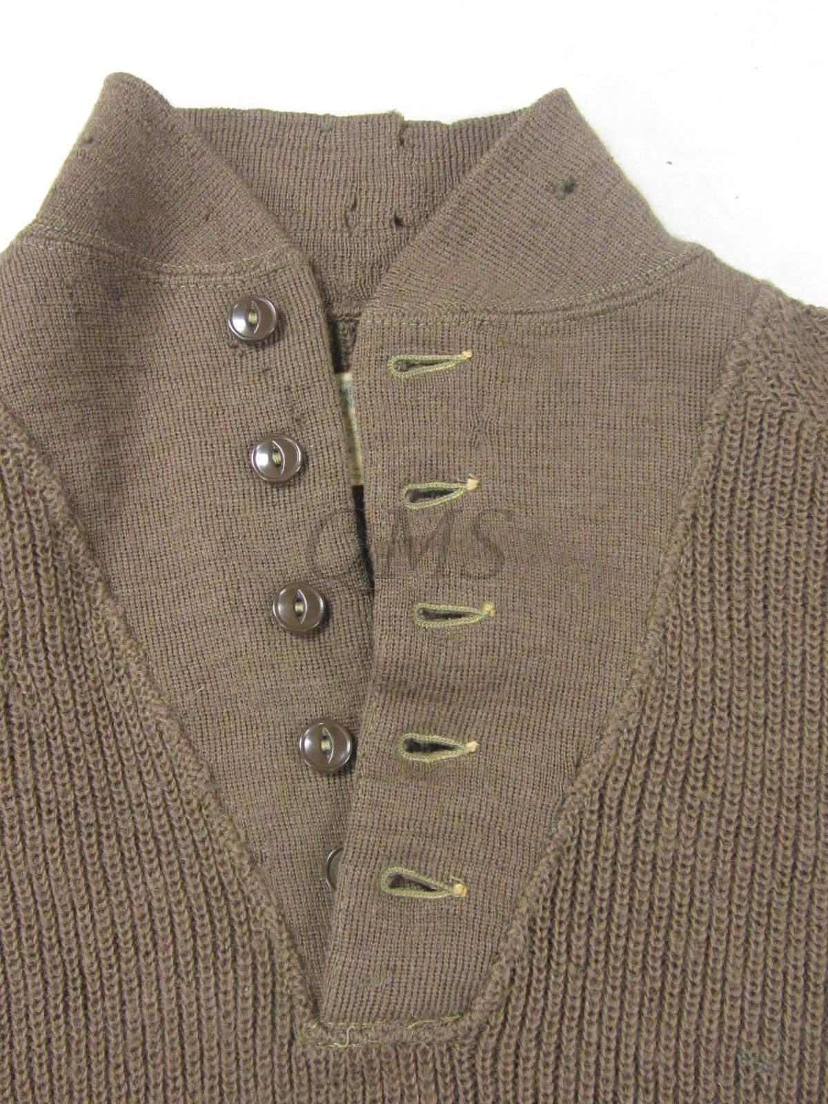 Ww2 U S Army Men S High Neck Sweater 5 Button
