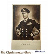 Postcard  His Majesty the King 1944-45