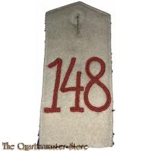 Schulterklappe 148e Infanterie (Shoulderboard infantry 148)