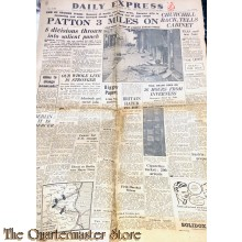 Newspaper, Daily Express Dec 30, 1944 Patton 3 miles on