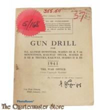 Manual Gun Drill for B.L. 12-Inch Howitzers , Railway truck, Marks II and III and Trucks Railway Marks II and III 1941