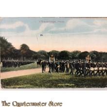 Prent briefkaart mobilisatie 1914 's Gravenhage Parade