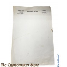 Canadees briefpapier WW2 (Stationary Canadian Legion War Service)