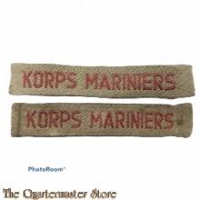 Straatnamen Korps Mariniers (kaki)