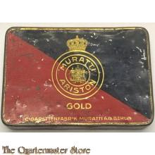 Zigaretten dose Muratti Ariston Gold (Tin Cigarettes Muratti Ariston Gold)