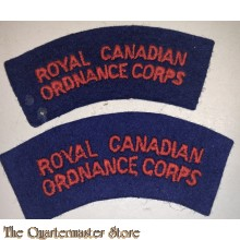 Shoulder flashes Royal Canadian Ordnance Corps