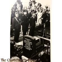Prent briefkaart 1945 Begrafenis BS