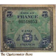 Invasion money 5 Francs 1944